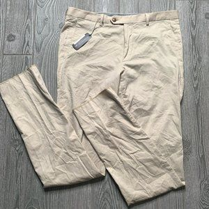 Peter Millar Crown Sport Pants Size 35 Stone Tan
